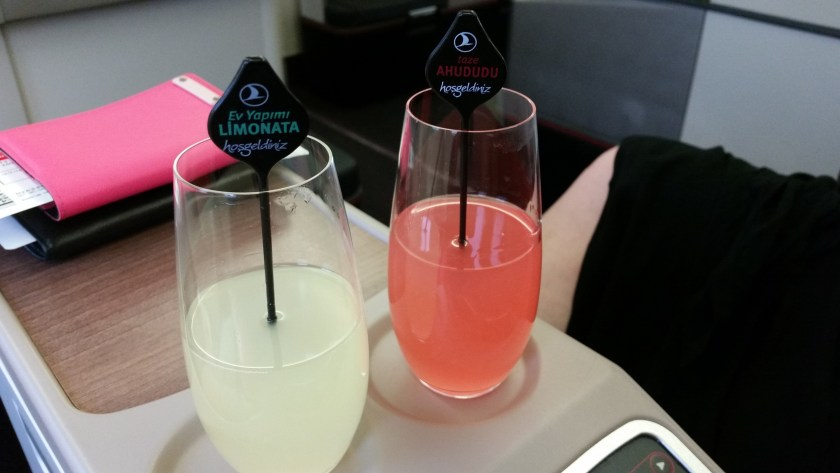 Turkish Airlines Welcome Drinks