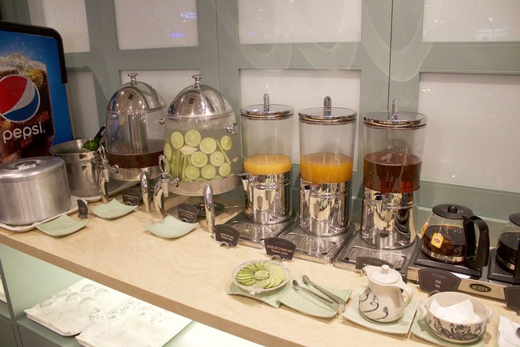 juice selection at the la saigonese lounge
