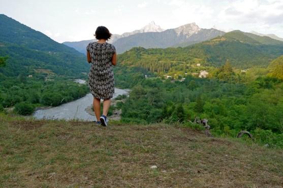 Racha georgia, how to take photos when traveling alone
