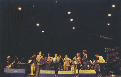 EXPLODING STAR ORCHESTRA SAO PAULO, May 2009. From left to right: R. MITCHELL, G. GRANADO, M. BAUDER, M. ROBERTS, S. SWELL, C. TAYLOR, R. MAZUREK, M. Lux, N. MITCHELL, D. LOCKS, J. ADASIEWICZ. Hidden: K. DRUMM, M. TAKARA, J. HERNDON, M. REED | Photo by Paulo Borgia