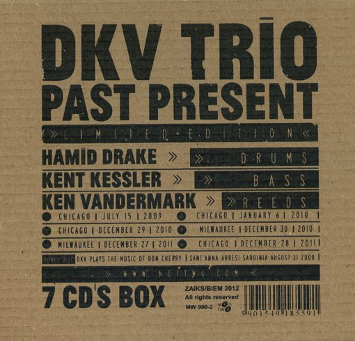 Hamid Drake | Kent Kessler | Ken Vandermark | DKV Trio | Past Present | Not Two Records