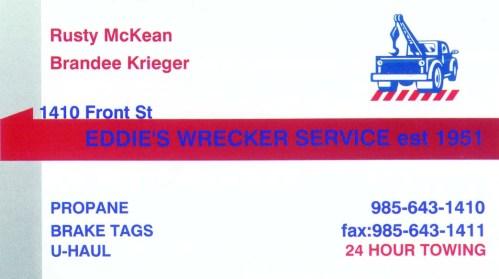 Eddie's Wrecker Service
