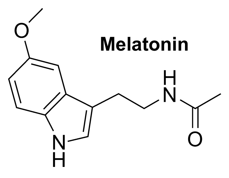 The chemical structure of melatonin