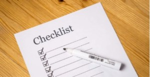 paper with checklist on it