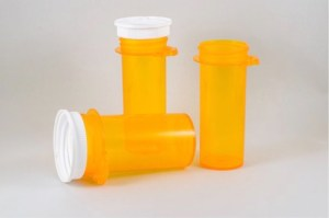 empty bottles of pain pills.