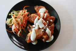 Perfect Instant Pot Buffalo Chicken Wings with Pickled Vegetable and Homemade Ranch Dressing