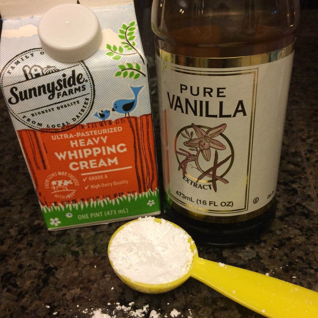 ingredients for vanilla whipped cream