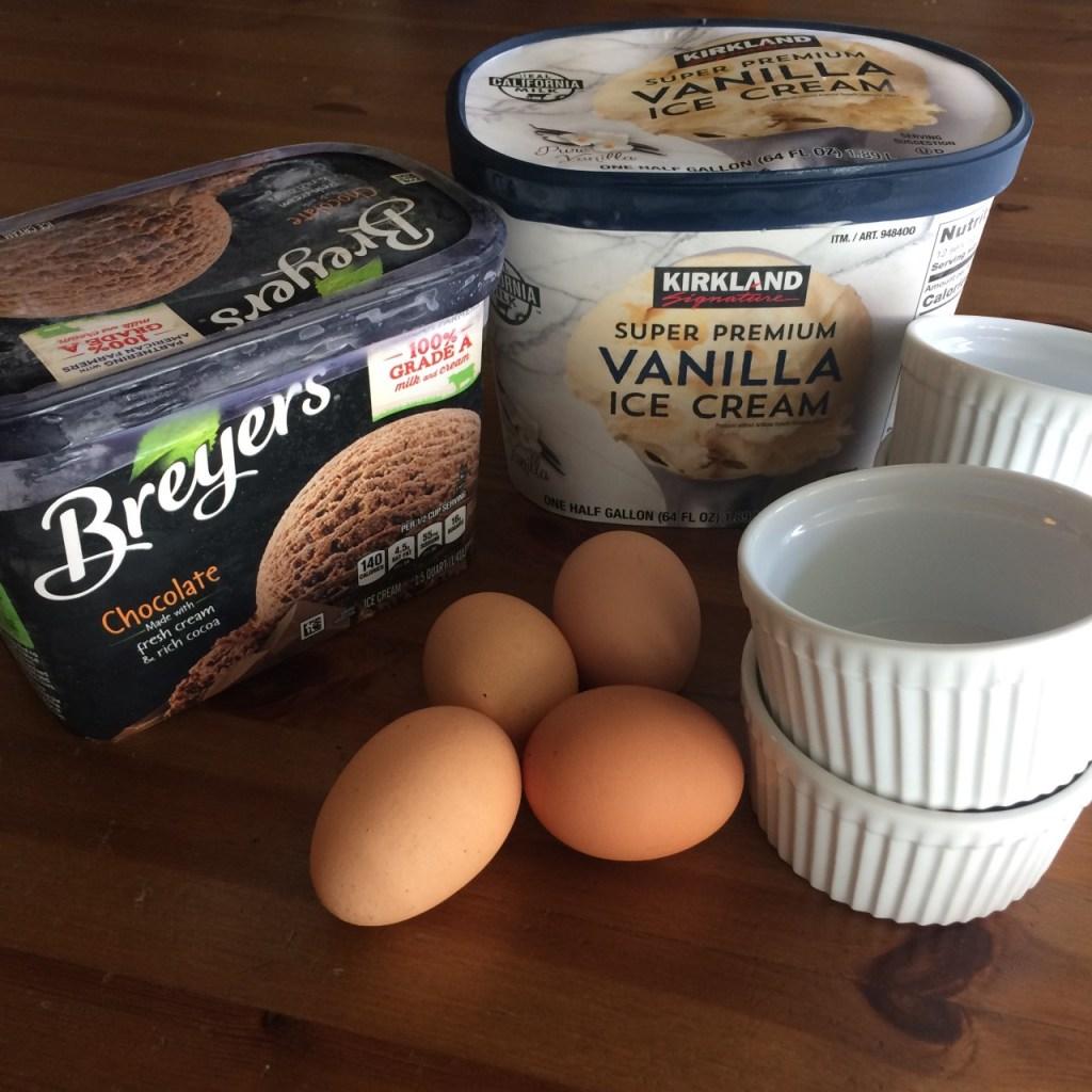ice cream becomes creme brulee