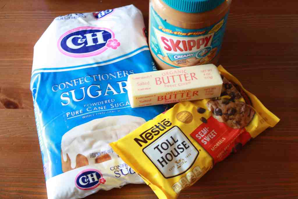 Old-fashioned peanut butter balls ingredients