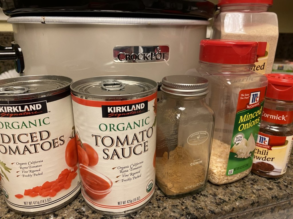 Slow Cooker & Ingredients