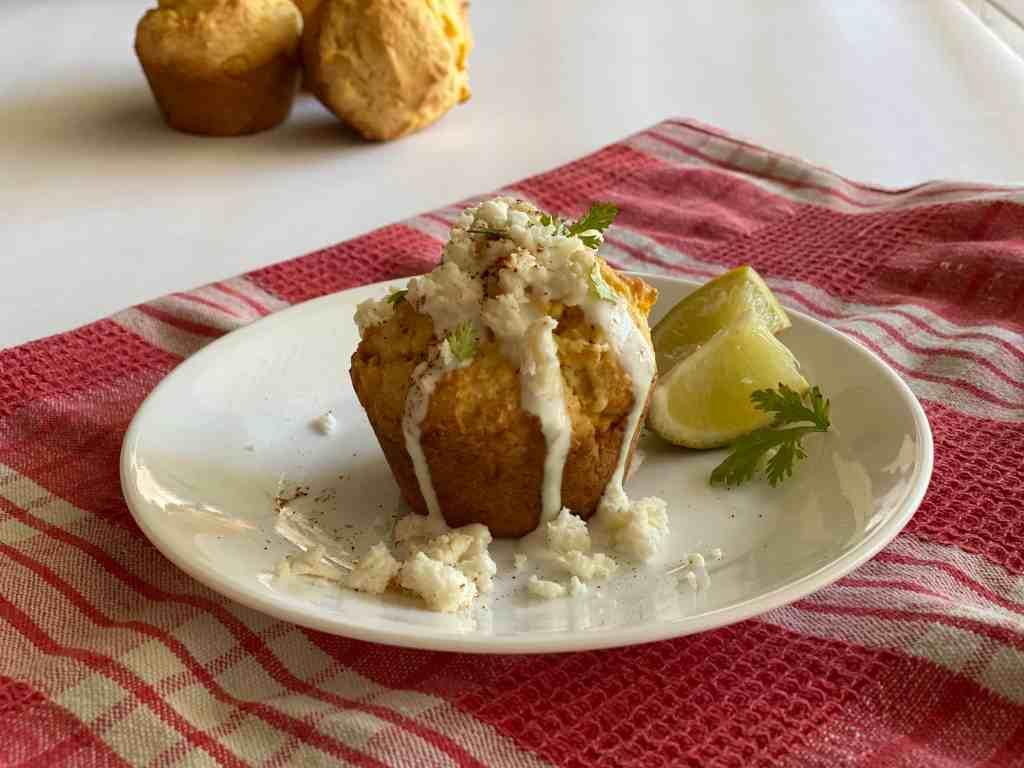 Easy Mexican Street Cornbread Muffins