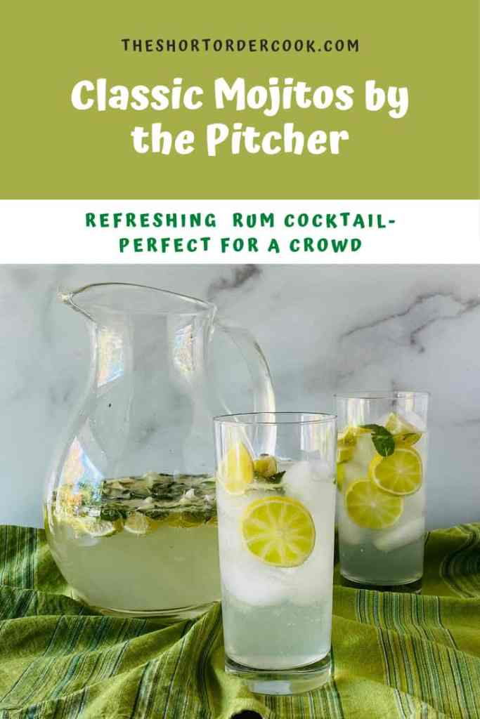 Classic Mojitos by the Pitcher PIN