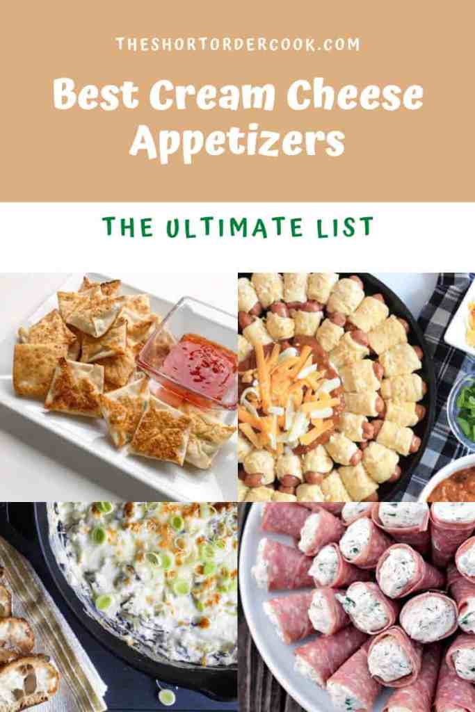 Best Cream Cheese Appetizers PIN