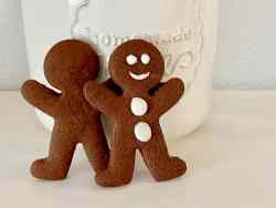 Chocolate Gingerbread Cookies featured two men and jar
