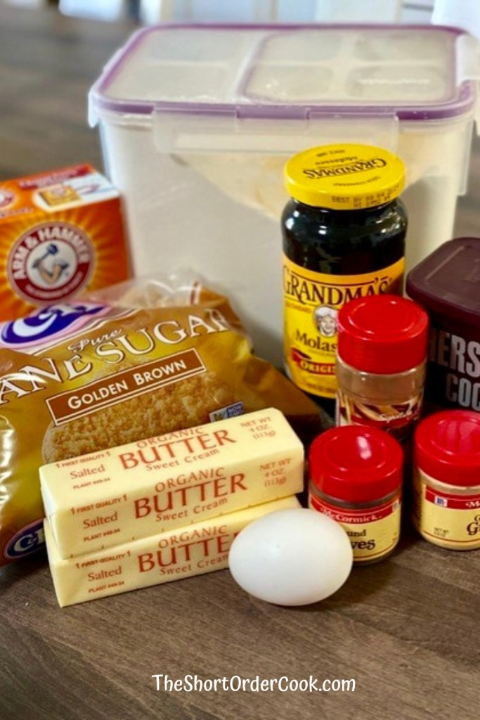 Chocolate Gingerbread Cookies ingredients