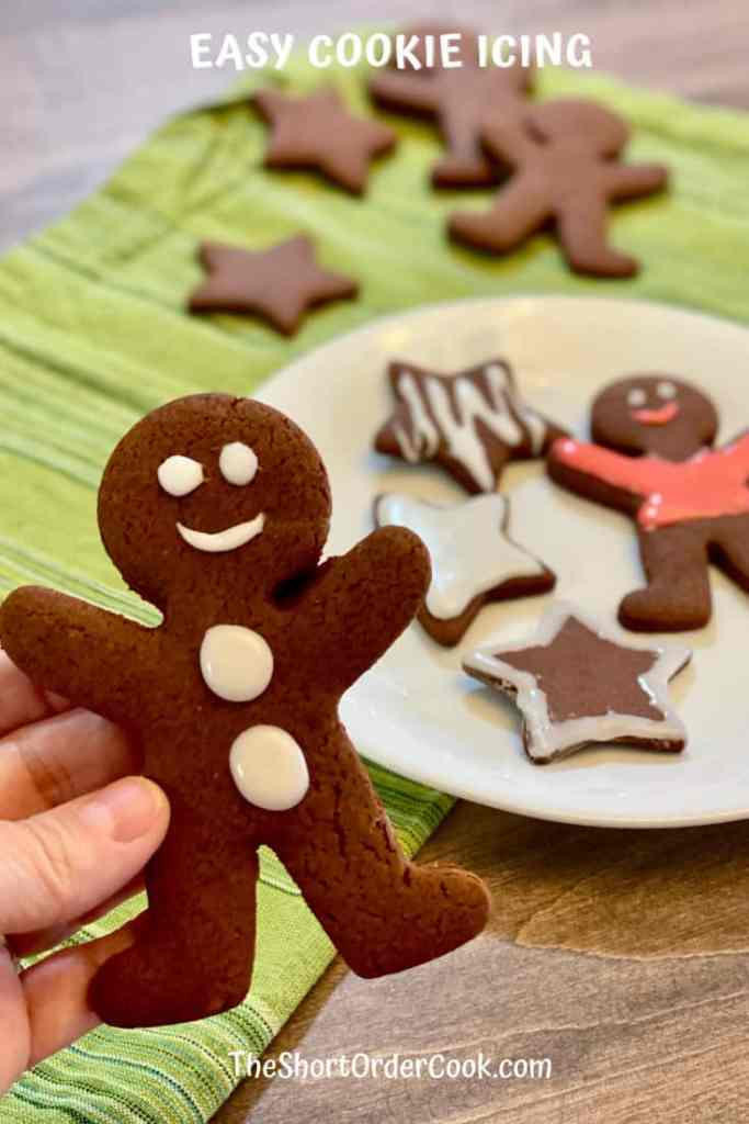 Easy Cookie Icing on decorated cookies