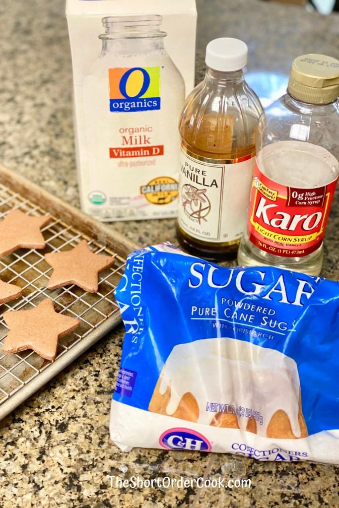 Easy Cookie Icing ingredients