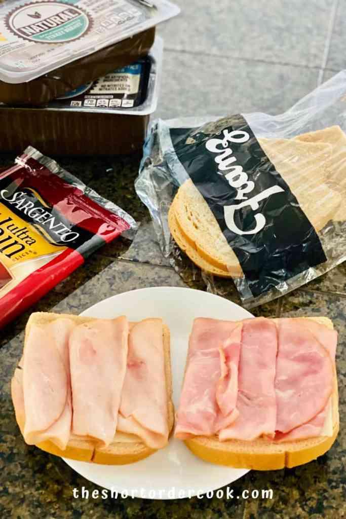 Keto Monte Cristo Sandwich assembling the sandwich