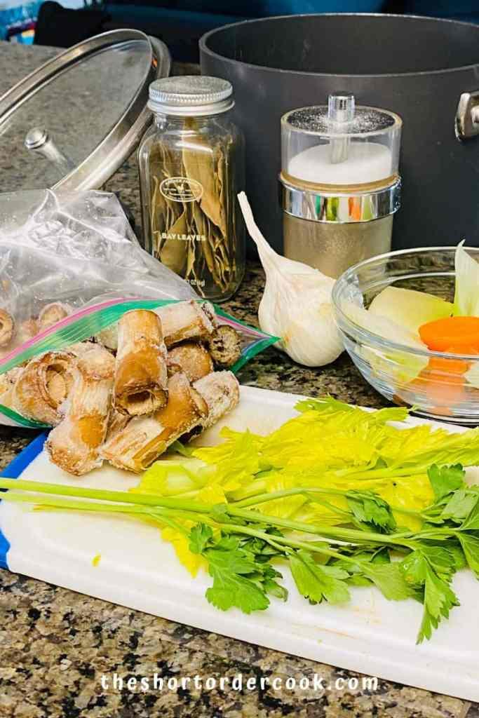 Vegan Mushroom Broth ingredients