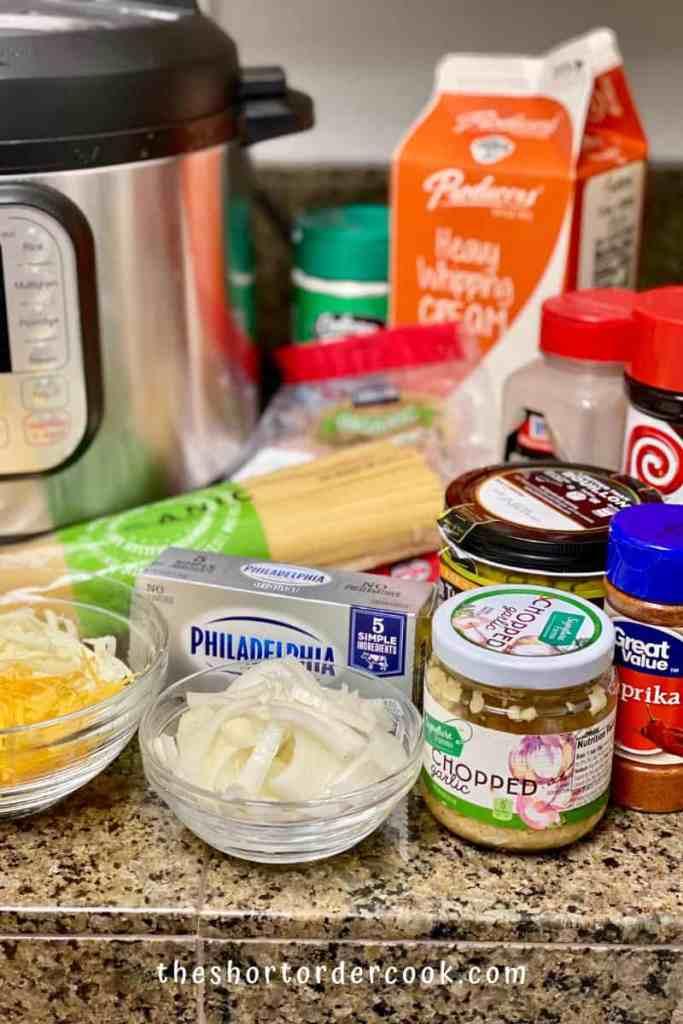 Instant Pot Creamy Chicken Spaghetti ingredients