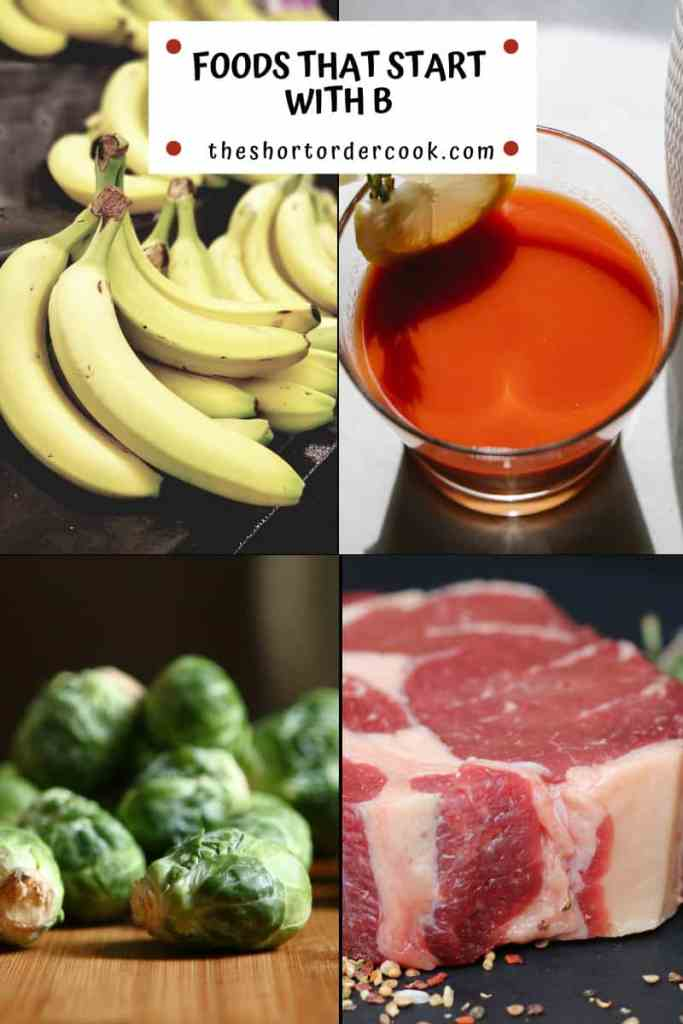 Foods That Start With B 4 images