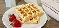 Perfectly Crispy and Chewy Mochi Waffles recipe card