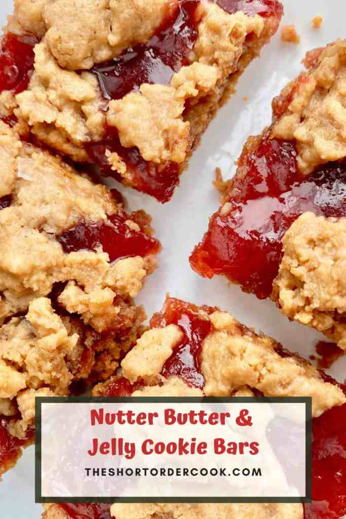 Nutter Butter & Jelly Cookie Bars close up