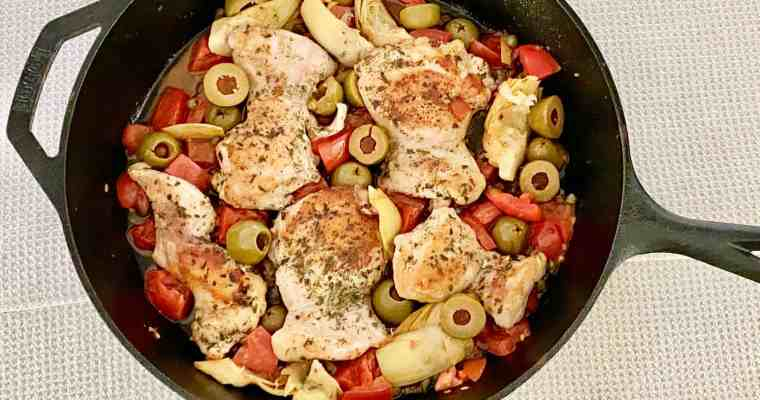 Paleo Greek Chicken Thighs