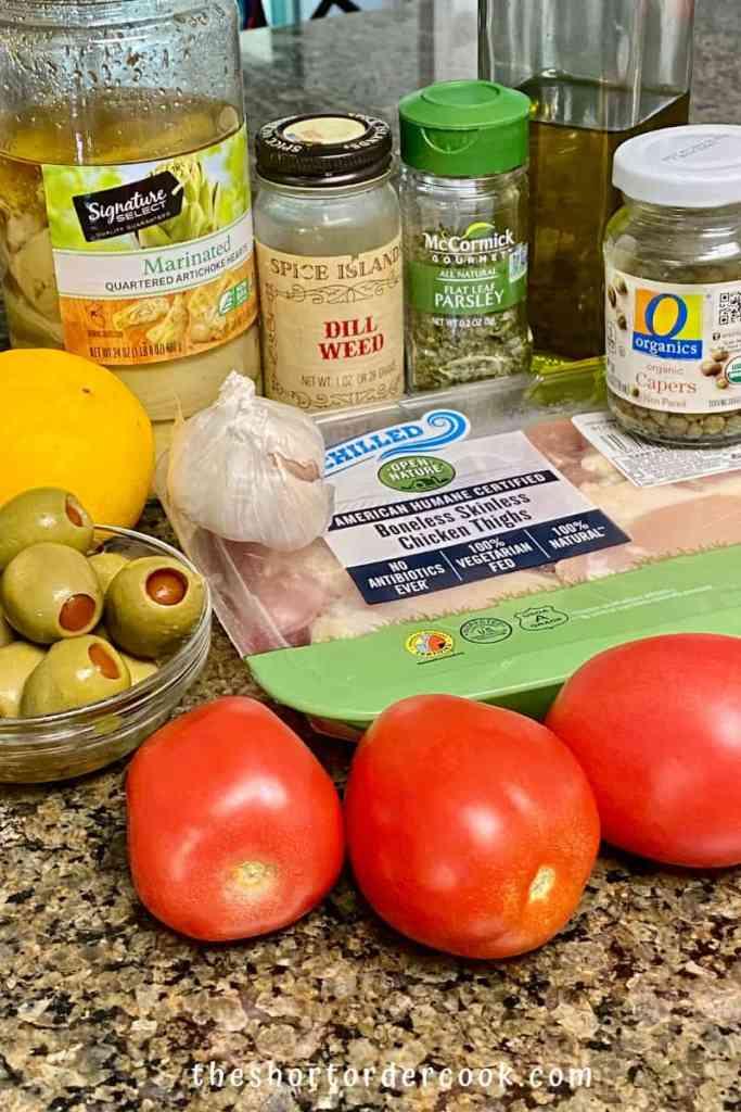 Paleo Greek Chicken Thighs ingredients