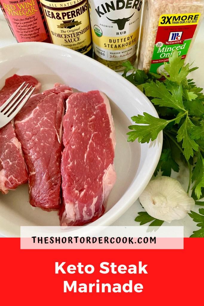 Keto Steak Marinade cut slices