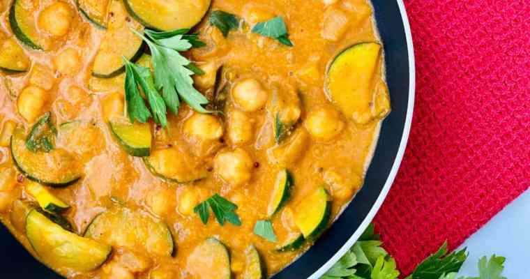 Zucchini, Chickpea, and Potato Curry