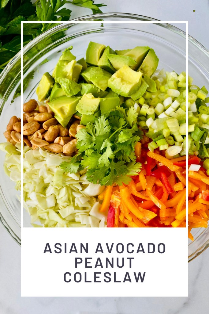 Asian Avocado Peanut Coleslaw PINREDO