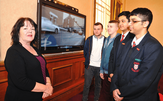 Young people create harrowing road safety video