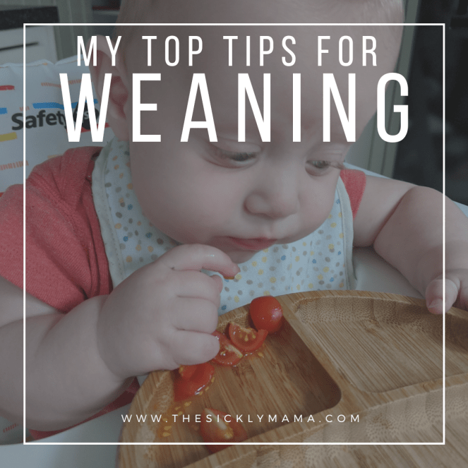 Blog post image for top weaning tips using a mix of baby led weaning and traditional weaning