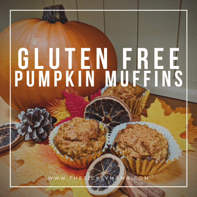 recipe for gluten free pumpkin muffins cupcakes fairy cakes the sickly mama blog autumn