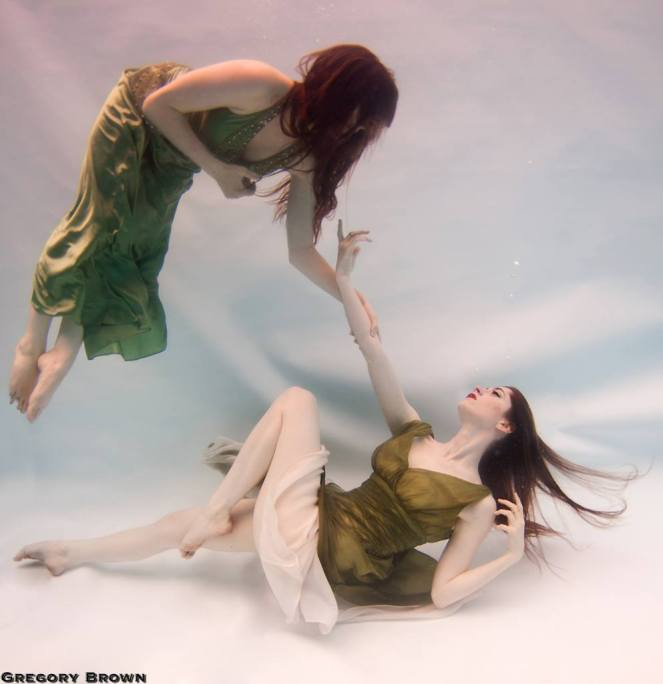 buoyancy for underwater photography two girls floating gregory brown the sickly mama blog modelling professional mermaid
