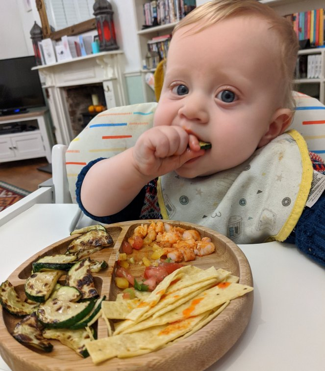 baby unusual weaning food deconstructed prawn tacos the sickly mama blog high chair