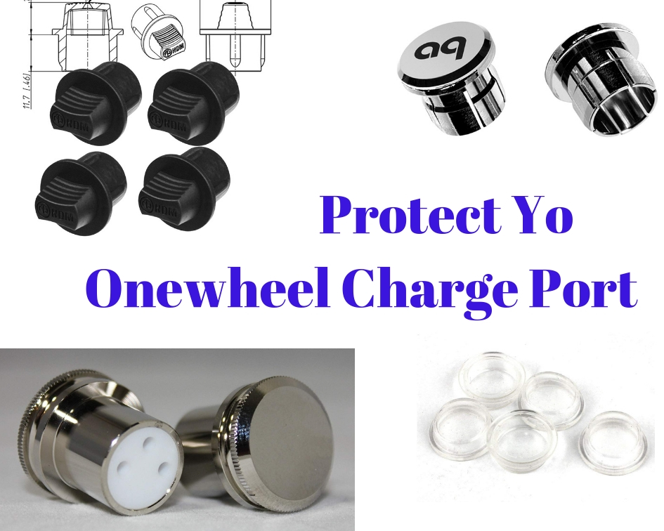 OneWheel Power Button /& Silver Metal Charge Port Cap Cover Plus XR New 2 Pack
