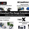 Onewheel Plus Range Extenders Two-X Battery Upgrade Kit CarvePower Charge and Ride Land Surf Ranger External Battery Mount Sonnywheels Ego Cables