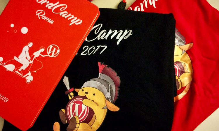image of wordcamp roma 2017 swag
