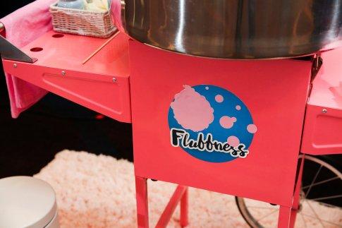 A little fun dessert - cotton candy provided by Fluffness