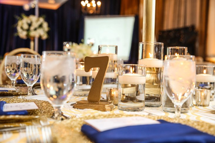 Gold table numbers by Perfect Planning Events