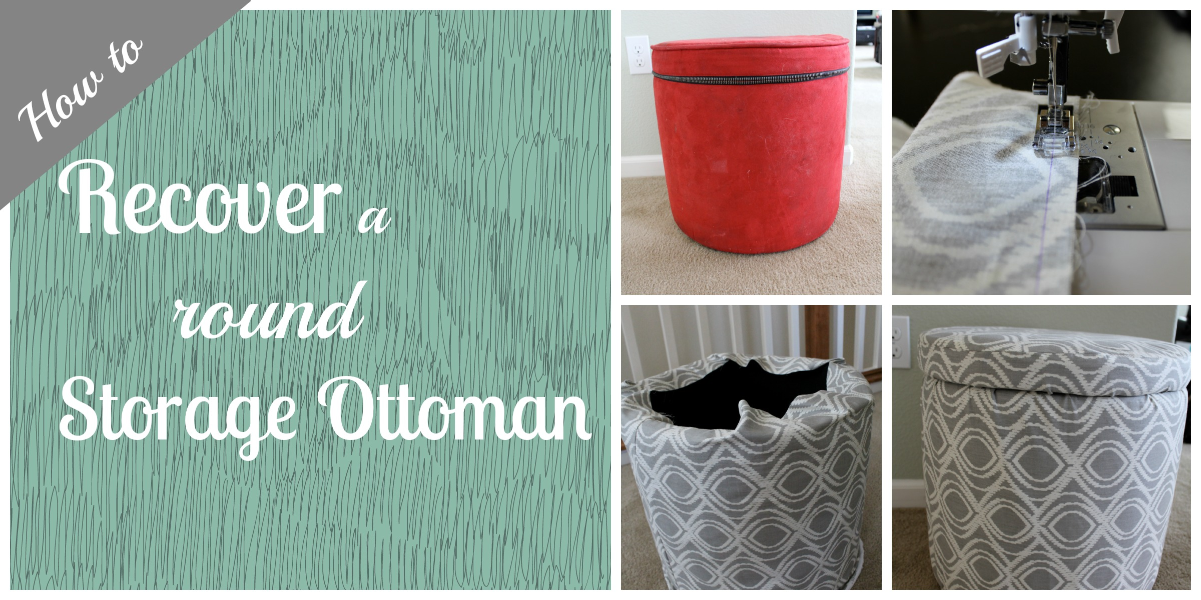 How To Recover A Round Storage Ottoman The Silberez Life
