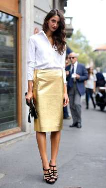 Gold-Pencil-Skirt-for-Street-Style