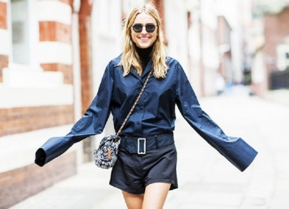 Pernille-Teisbaek-of-Look-de-Pernille-contrasts-her-short-hemline-with-extra-long-sleeves