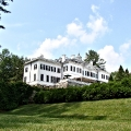 The Mount as seen from the left hand side while on the path to the garden.  Edith Wharton Estate & Gardens.  Lenox, MA