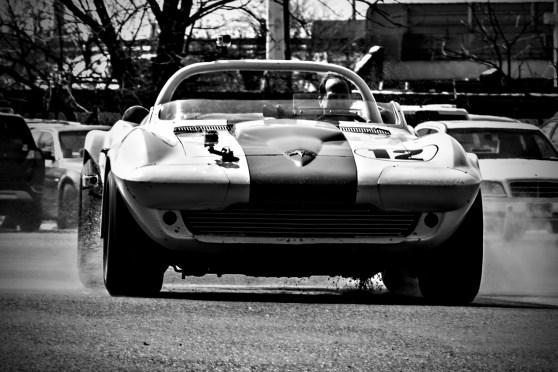 1963 Chevrolet Corvette Grand Sport driven by Kevin Kelley. Simeone Automotive Museum Demo Days: Judicious Use . Philadelphia, PA