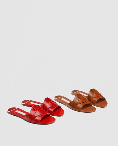 Zara_leather slides