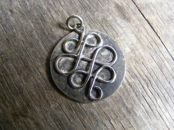 Hammered Celtic Pendant