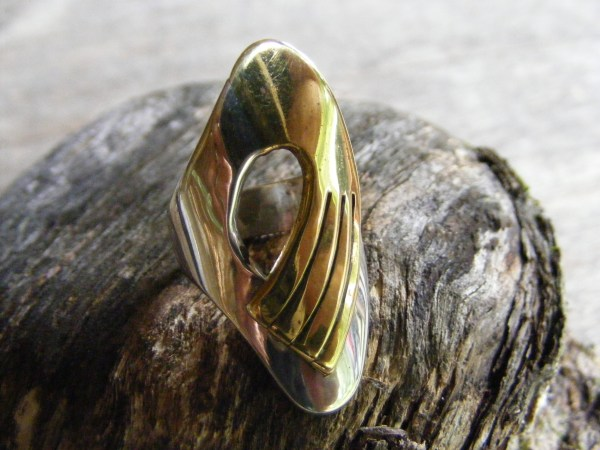 Bi-Metal Ring – Vintage Mexican